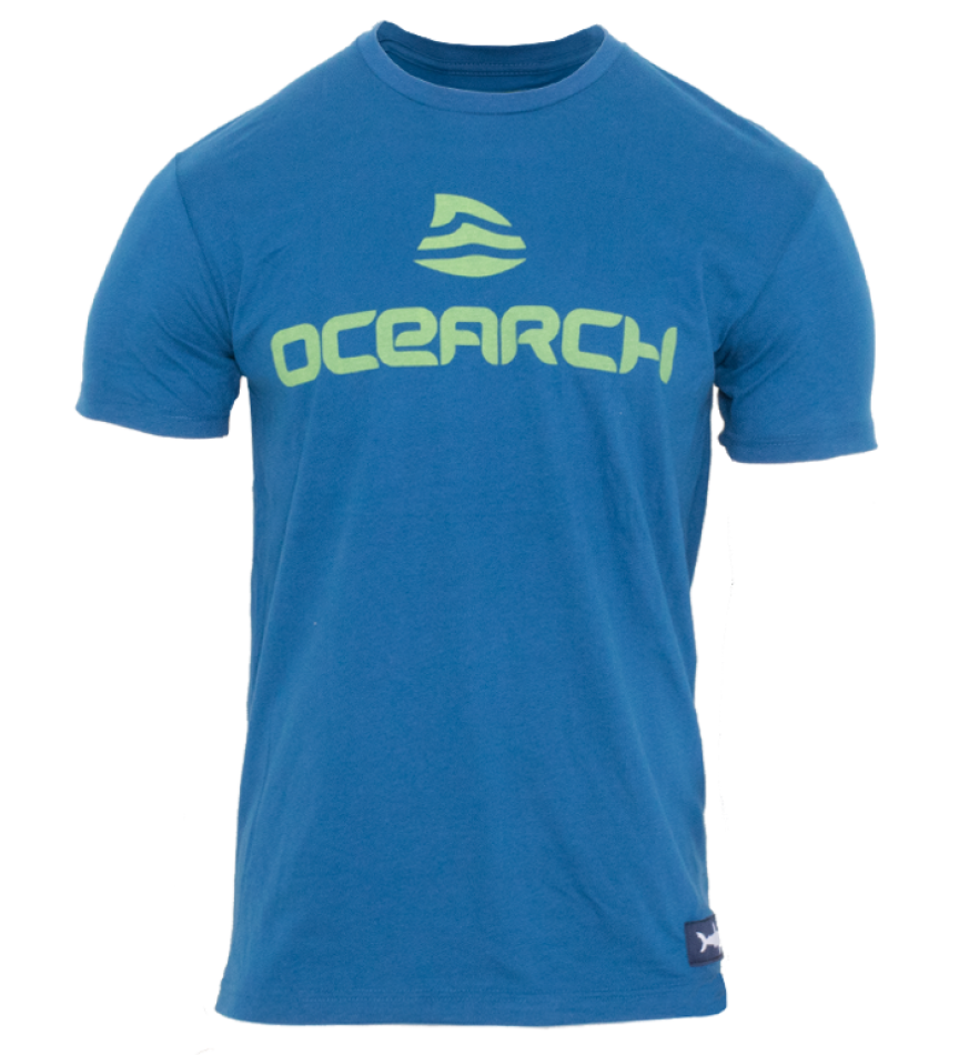 Men's Logo Sueded Tee - Cool Blue