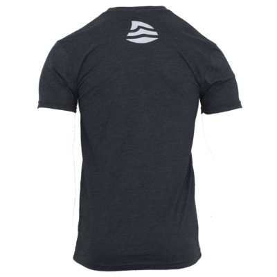 Men's Logo Sueded Tee - Charcoal