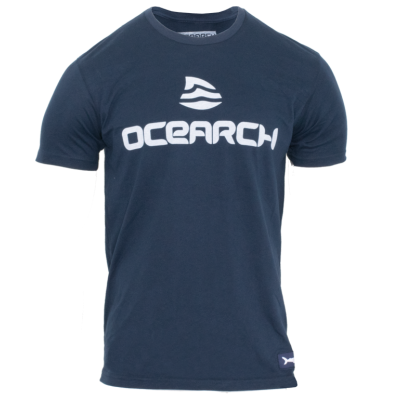 Men's Logo Sueded Tee - Navy