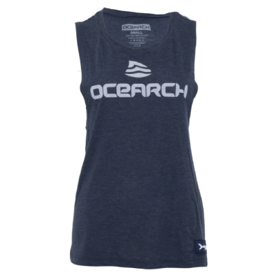 Women's Logo Flowy Muscle Tank - Heather Navy