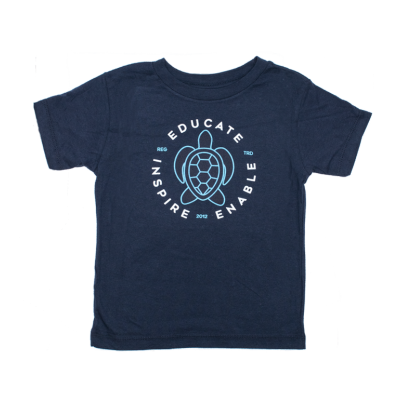 Toddler Turtle Tee - Navy