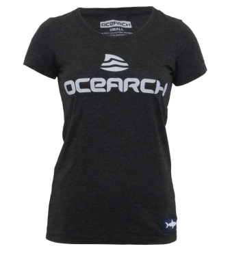 Women's Logo TriBlend Tee - Charcoal