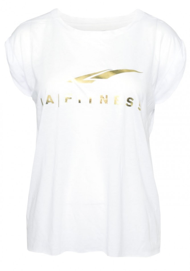 LADIES FLOWY FOIL MUSCLE TEE