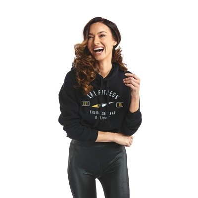 Established Women's Cropped Fleece Hoodie