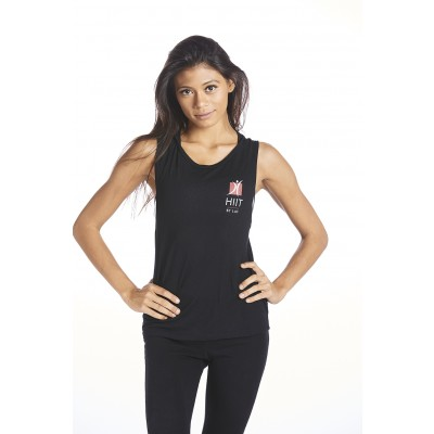 LADIES HIIT FLOWY MUSCLE TANK